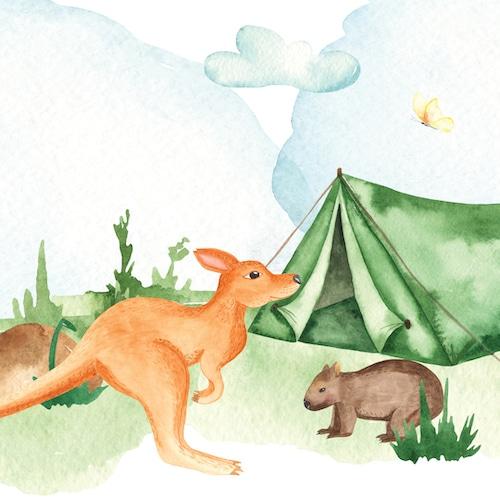 Kangaroo Wombat Story & Lesson Plan