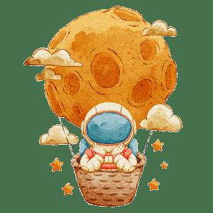 astronaut in balloon